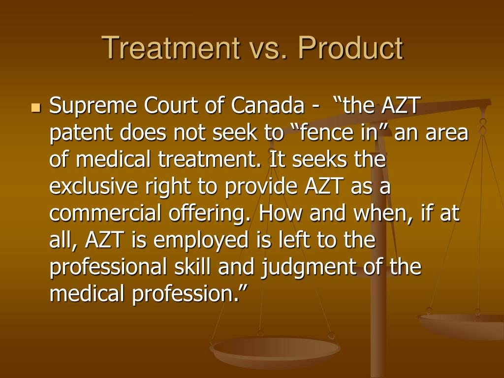 Treatment vs. Product