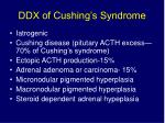 ddx of cushing s syndrome
