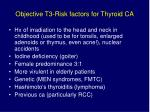 objective t3 risk factors for thyroid ca