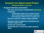 surgical care improvement project draft performance measures