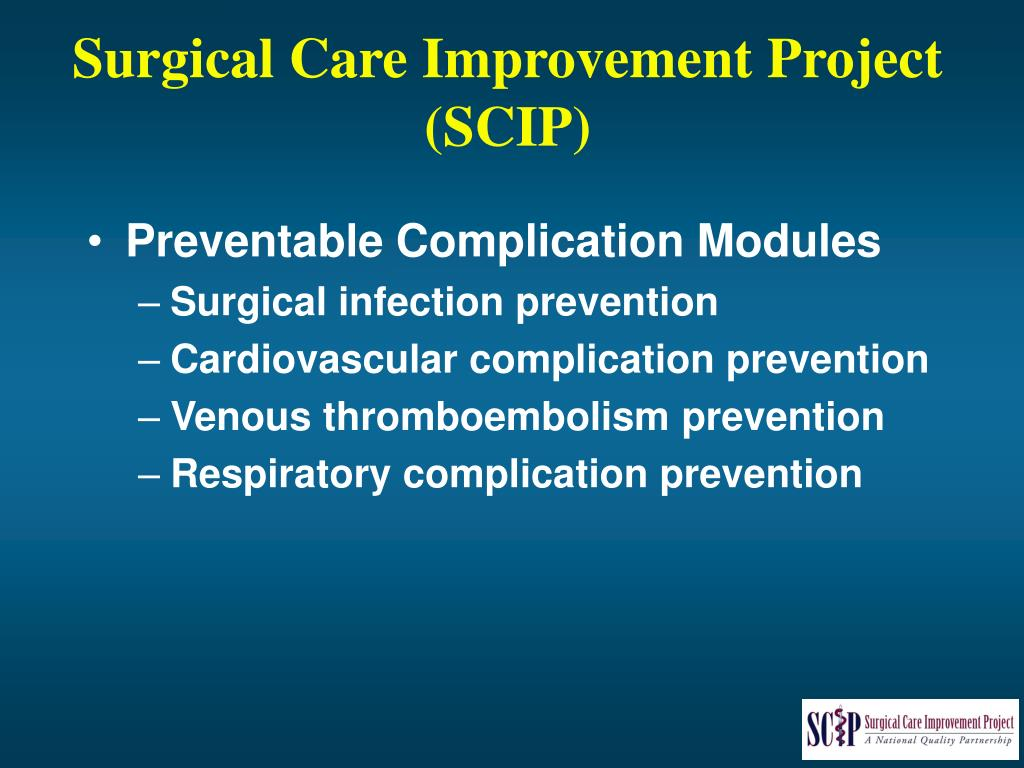 Surgical Care Improvement Project
