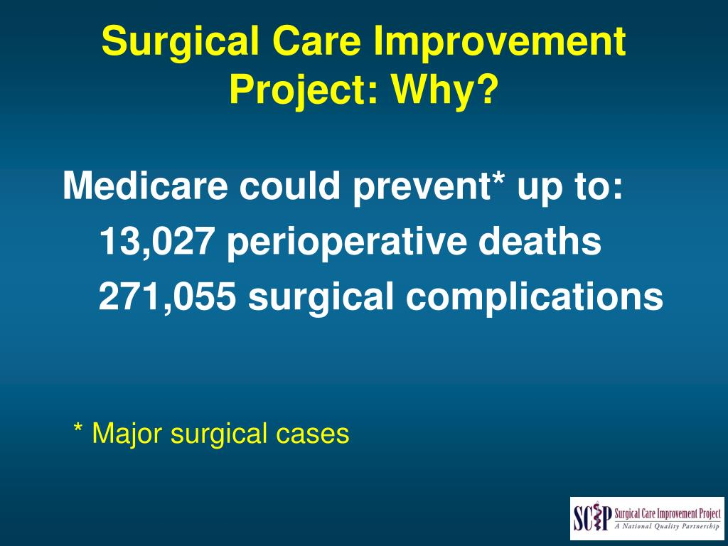 Surgical Care Improvement Project: Why?