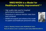nnis nhsn is a model for healthcare safety improvement 1 2