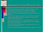 arguments for total thyroidectomy