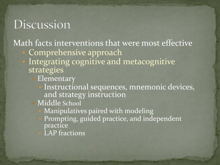 Ppt Math Interventions For Students With Learning Disabilities A