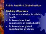 public health globalisation1