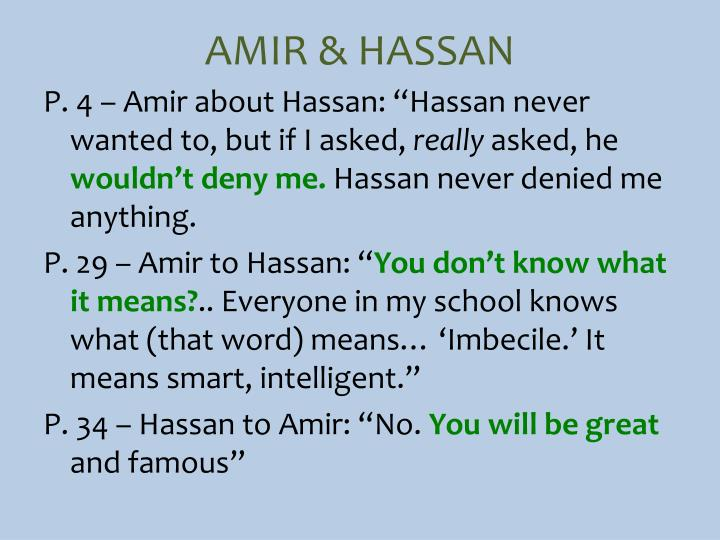 AMIR & HASSAN