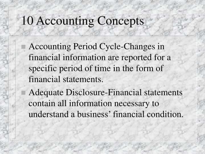 10 accounting concepts n.