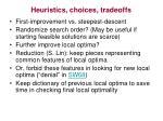 heuristics choices tradeoffs