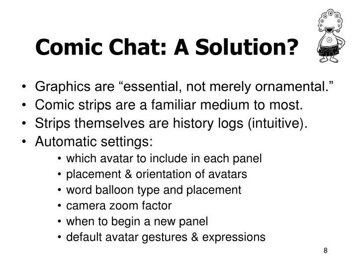 Comic Chat: A Solution?