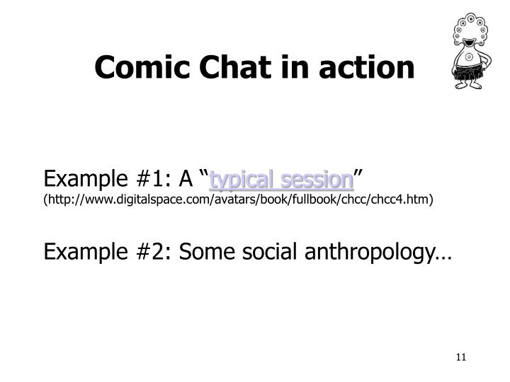 Comic Chat in action