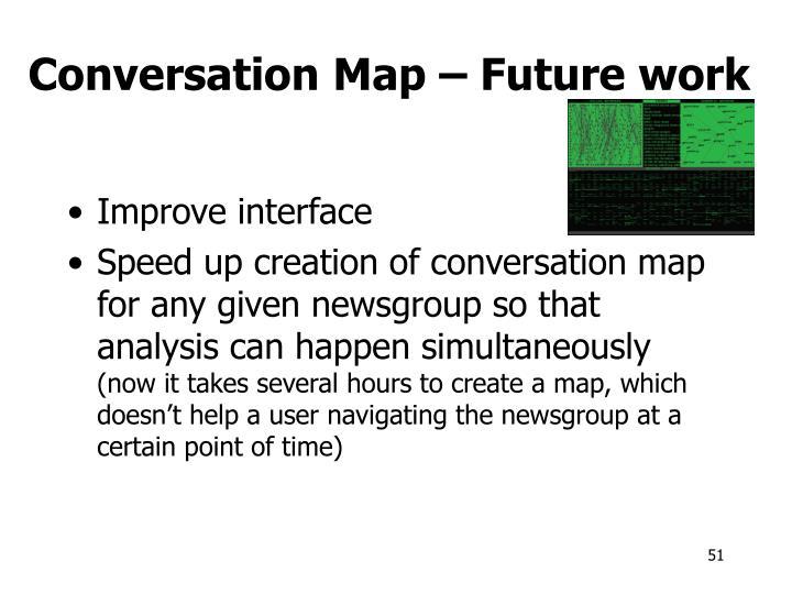 Conversation Map – Future work
