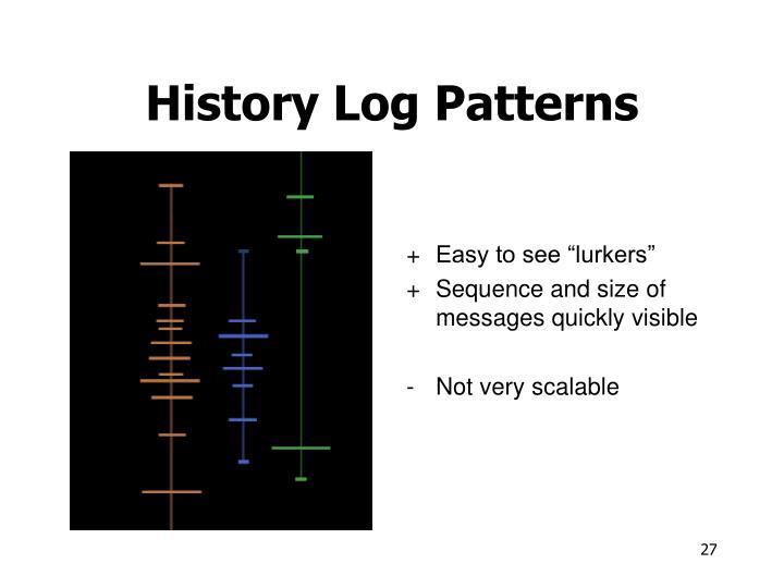 History Log Patterns