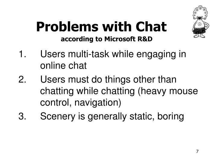 Problems with Chat