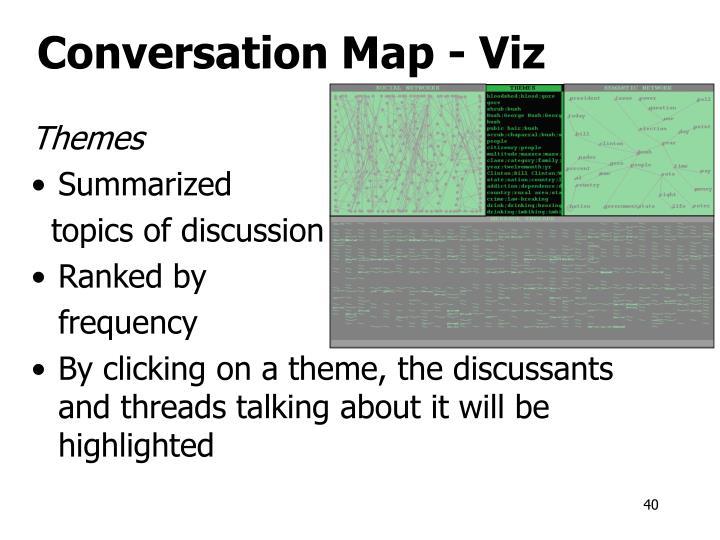 Conversation Map - Viz