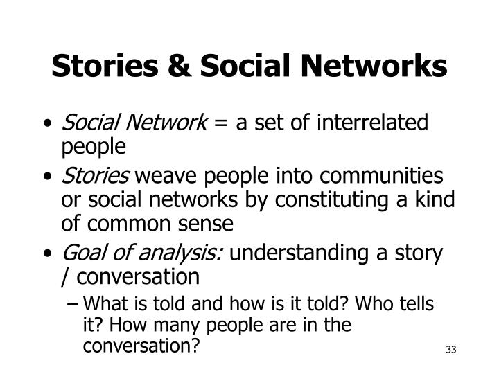 Stories & Social Networks