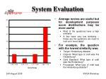system evaluation2
