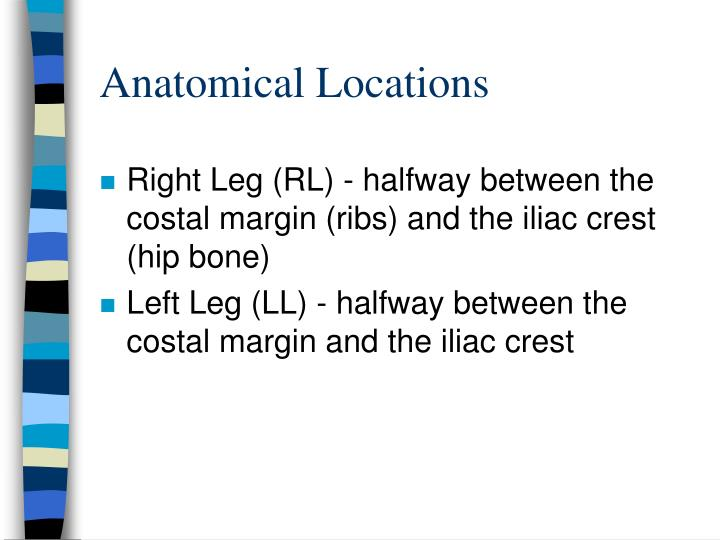 Anatomical Locations