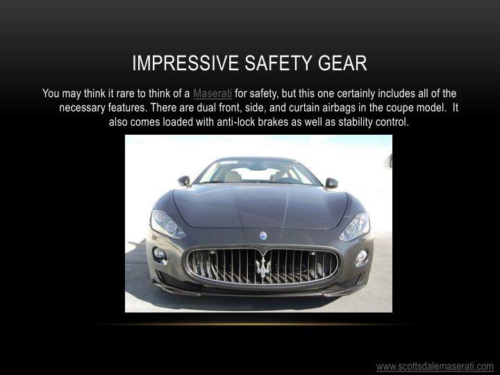 Impressive safety gear