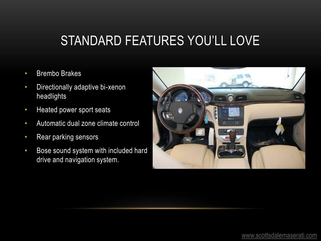 Standard features you'll love