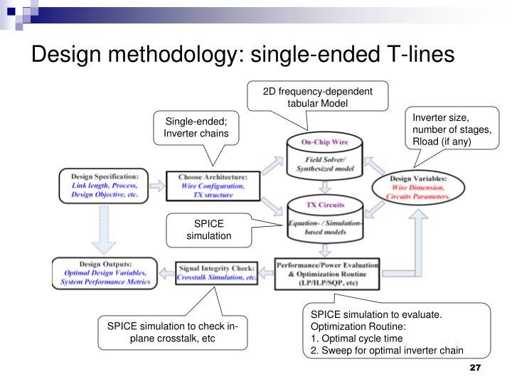 Design methodology: single-ended T-lines