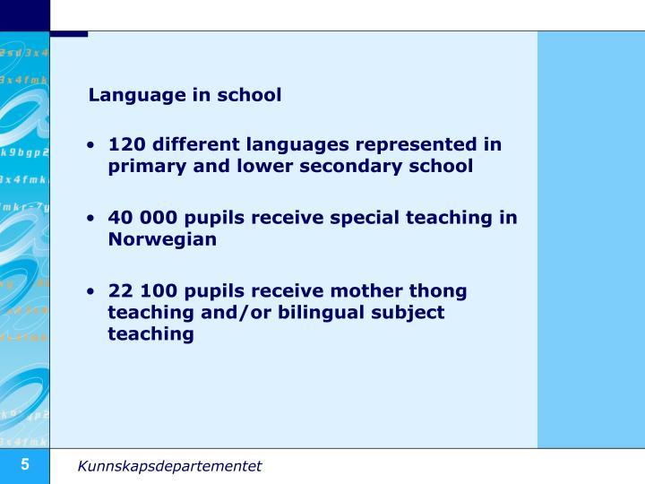 Language in school