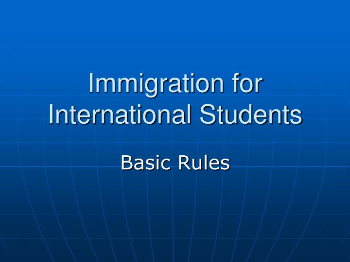 immigration for international students n.