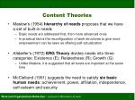 content theories