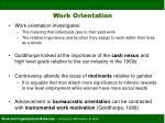 work orientation