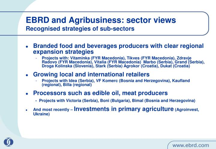 Branded food and beverages producers with clear regional expansion strategies