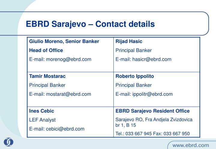 EBRD Sarajevo