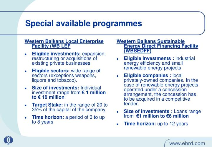 Western Balkans Local Enterprise Facility (WB LEF