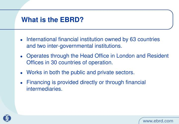 What is the EBRD?