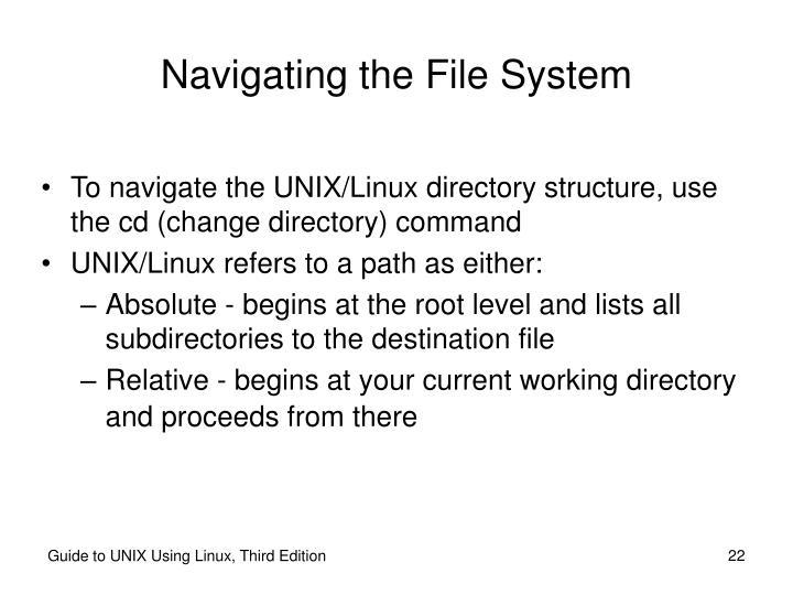 Navigating the File System