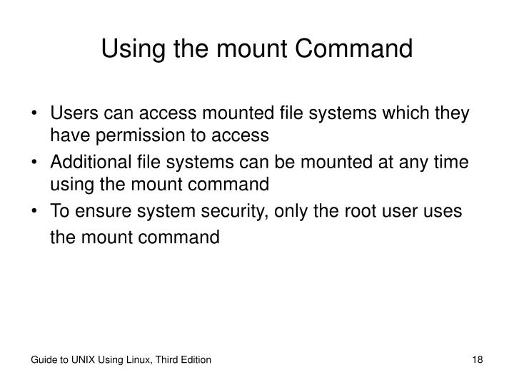 Using the mount Command