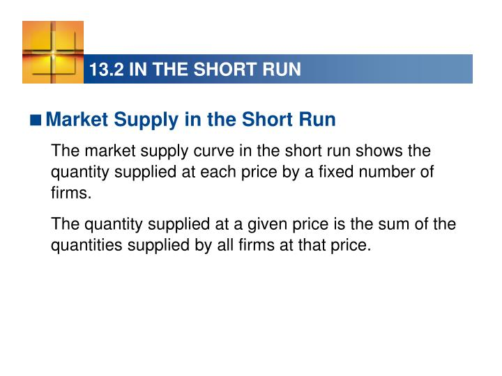 13.2 IN THE SHORT RUN