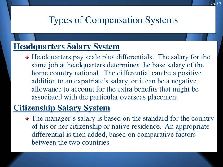 Types of Compensation Systems