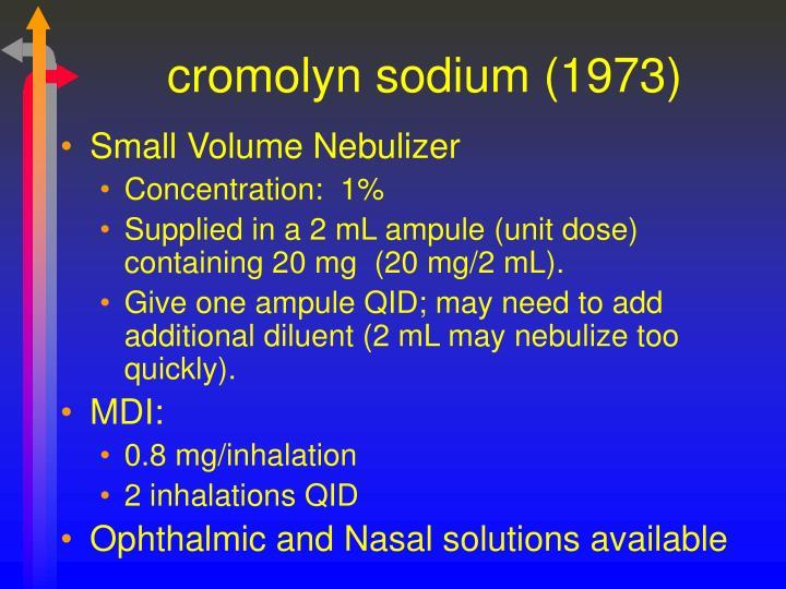 cromolyn sodium (1973)
