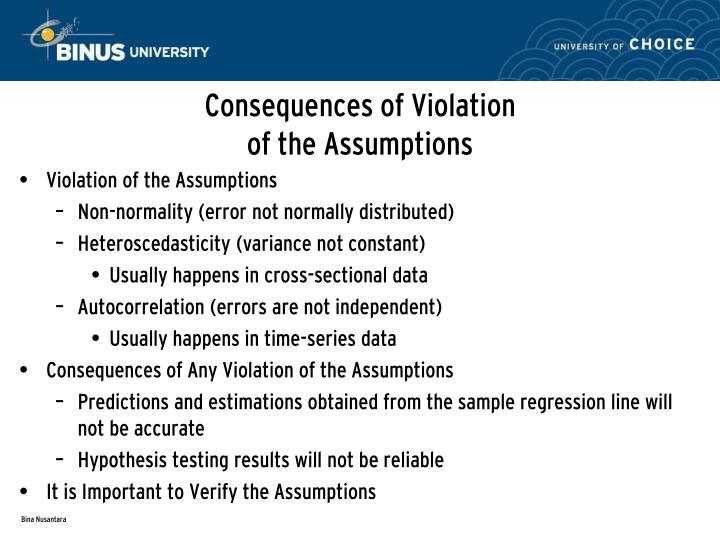 Consequences of Violation