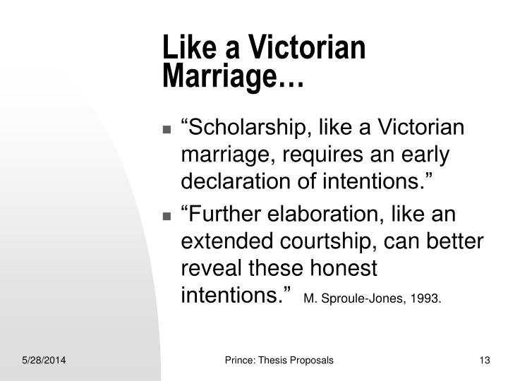 Like a Victorian Marriage…