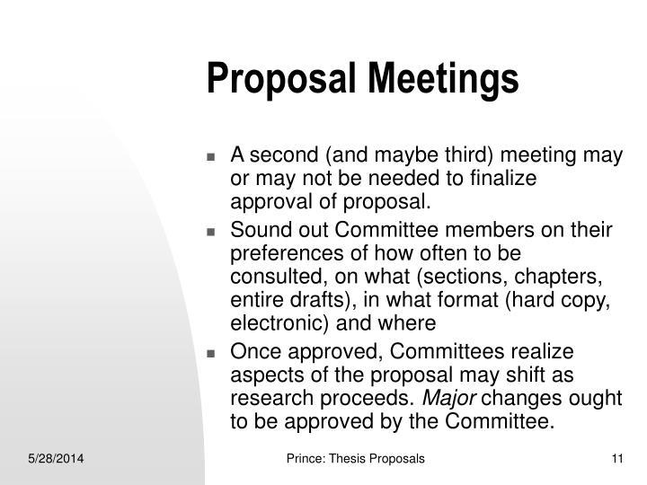 Proposal Meetings