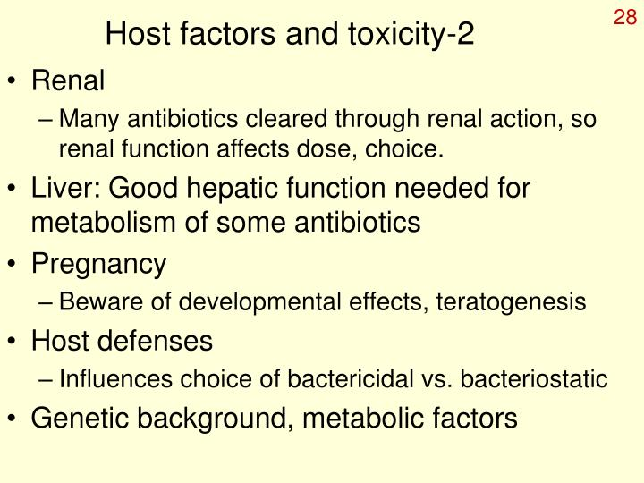 Host factors and toxicity-2