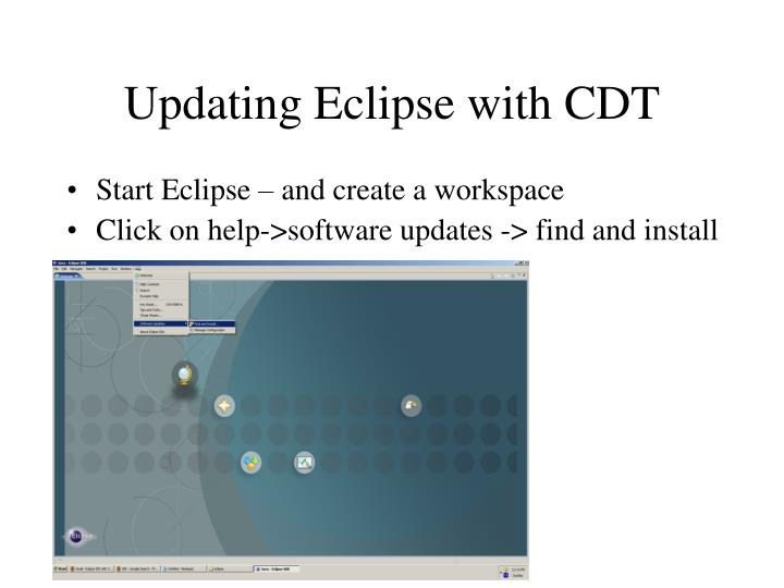 Updating Eclipse with CDT