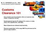 customs clearance 1012
