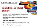exporting a short primer