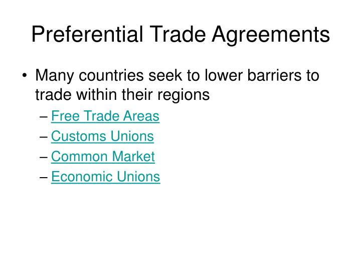 Ppt chapter 3 the global trade environment regional market preferential trade agreements platinumwayz