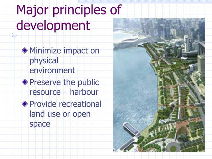 Major principles of development