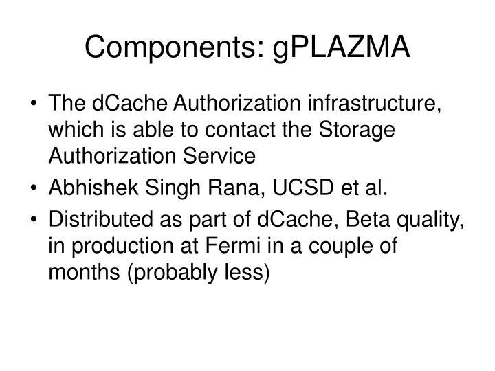 Components: gPLAZMA