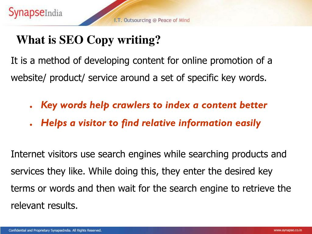 What is SEO Copy writing?