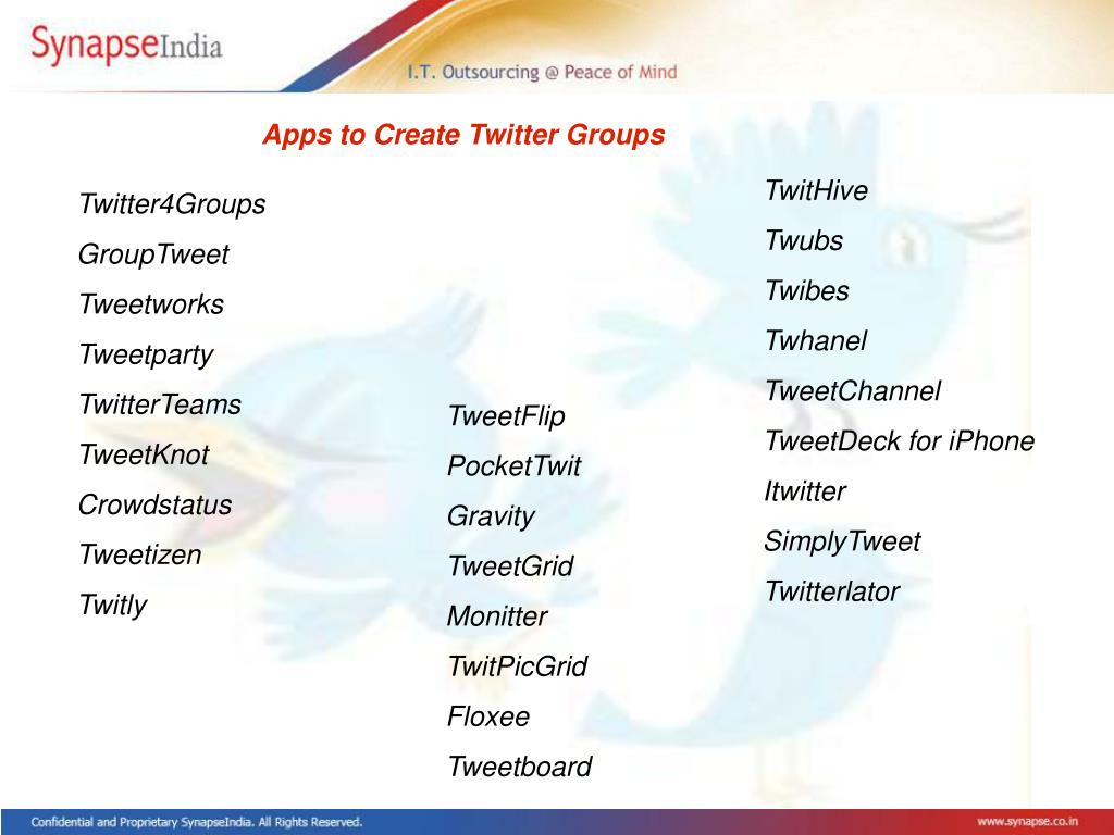 Apps to Create Twitter Groups